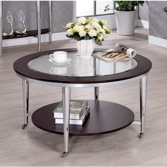 Furniture Of America Furniture of America Nolene Contemporary Round Glass Coffee Table