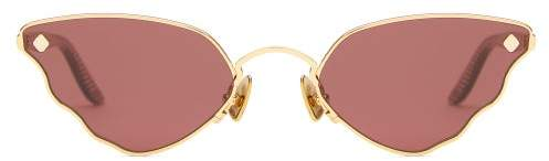 Atelier Moy Little Ripple Butterfly Gold Plated Sunglasses - Womens - Gold