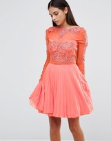 AX Paris Skater Dress With Pleated Skirt