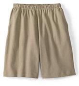 Classic Women's Plus Size Sport Knit Shorts-White