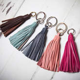 NV London Calcutta Leather Tassel Key Ring