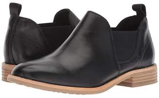 Clarks Edenvale Page (Black Leather) Women's Shoes