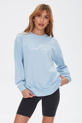 Forever 21 Embroidered Sunny Days Pullover