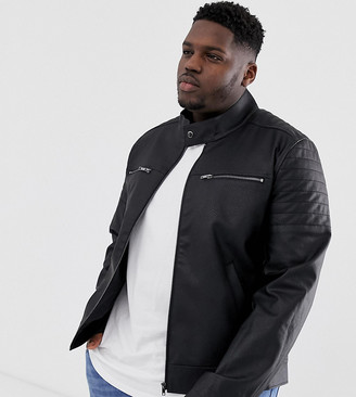 Asos DESIGN Plus faux leather jacket with quilting