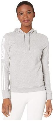adidas Bold Block Pullover Hoodie (Medium Grey Heather) Women's Clothing