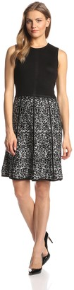 Calvin Klein Women's Sleeveless Printed Fit-and-Flare Dress - Multi - Medium