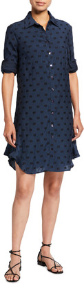 Finley Agatha Clip Dot Ruffle-Hem Shirtdress