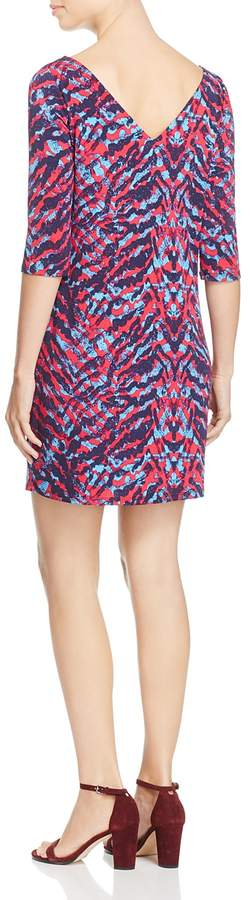 Leota Nouveau Zebra Print Knit Sheath Dress