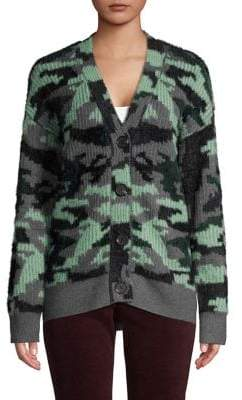 Vince Camuto Camo Knit Button-Front Cardigan
