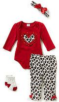 Starting Out Baby Girls Newborn-9 Months Heart & Leopard-Print 4-Piece Layette Set