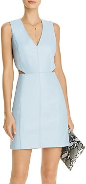 Aqua Faux-Leather Side-Cutout Dress - 100% Exclusive