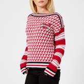 Karl Lagerfeld Women's Captain Sweatshirt Red