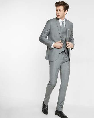 Express Slim Micro Twill Suit Jacket