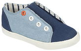 John Lewis Children's Finlay Denim Double Rip-Tape Trainers, Blue