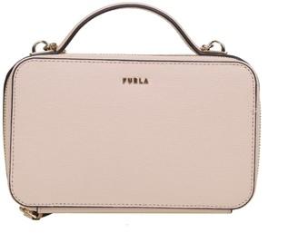 Furla Babylon Shoulder Strap In Powder Pink Leather