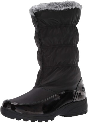 totes Women's Carmela Ruched Snow Boot Regular Fit