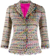 Tagliatore embroidered fitted blazer