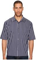 Vince Narrow Stripe Single Pleat Long Sleeve Shirt Men's T Shirt