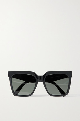 Celine Oversized Square-frame Acetate Sunglasses - Black