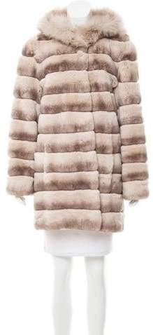 Glamour Puss Glamourpuss Hooded Fur Coat