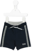 Boss Kids - logo trim shorts - kids - Cotton/Spandex/Elastane - 12 mth