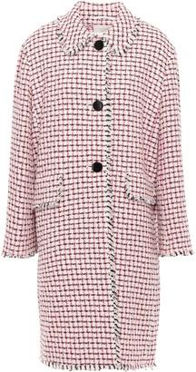 Kate Spade Frayed Cotton-blend Tweed Coat