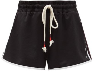 The Upside Nina Side-stripe Pique Shorts - Black