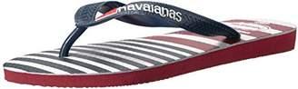 Havaianas Men's USA Stripe Logo Flip Flop Sandal 9/10 M US