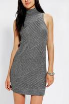 Sparkle & Fade Sleeveless Mock-Neck Sweater Dress
