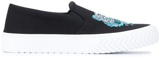 Kenzo Tiger Embroidered Motif Slip-On Trainers