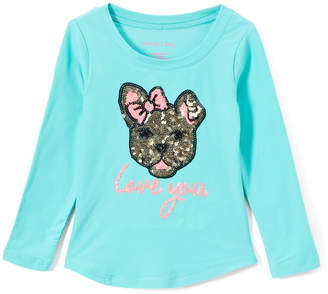 Colette Lilly Girls' Tee Shirts JADE - Jade Sequin 'Love You' Long-Sleeve Tee - Toddler & Girls