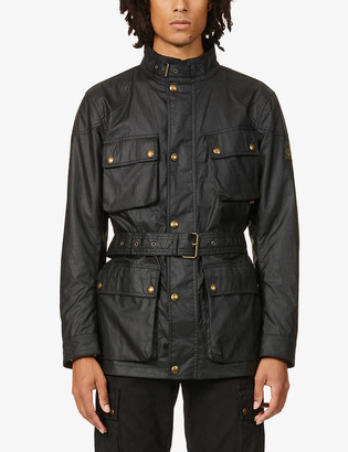 Belstaff Trialmaster funnel-neck waxed cotton jacket