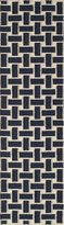"Momeni Rugs LAGUALG-02NVY2380 Laguna Collection, 100% Wool Hand Woven Flatweave Contemporary Area Rug, 2'3"" x 8' Runner"
