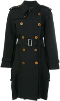 Comme des Garcons double breasted coat - women - Polyester - M