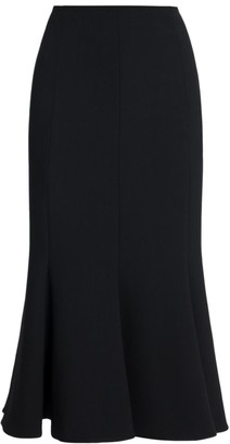 Valentino Wool-Blend Mermaid Midi Skirt