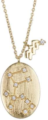 Kenneth Jay Lane CZ By 14K Yellow Gold Plated CZ Zodiac Pendant Necklace - Multiple Options