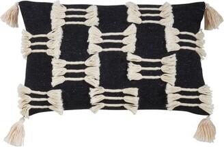 Bungalow Rose Binberrie Boho Tassel Design Pillow, Cover Only Color: Black