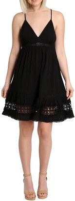 Nanette Lepore Stella Spaghetti Crochet Dress