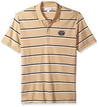 Lacoste Men's Short Sleeve PIMA HERTIAGE France Striped Polo