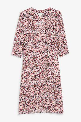 Monki Buttoned wrap dress