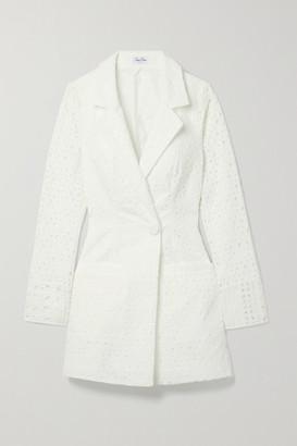 Charo Ruiz Ibiza Verna Broderie Anglaise Cotton-blend Blazer - White