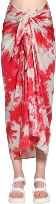 Alanui Tie Dye Cotton & Silk Skirt