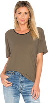 James Perse Relaxed Ringer Tee in Army