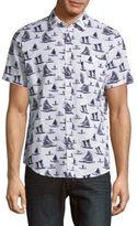 Saks Fifth Avenue Sailboat Print Shirt