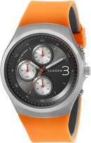 Skagen Men's Jannik SKW6156 Orange Rubber Quartz Watch