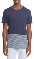 Onia Men's Chad Colorblock Linen T-Shirt