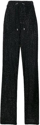 Balmain Embellished Wide Leg Trousers