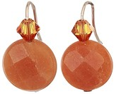 Alex and Ani Aventurine Gemstone Earrings (Red/14KT Rose Gold Plated) Earring
