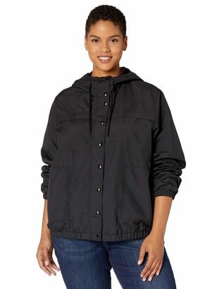 Volcom Women's Junior's Plus Size Enemy Stone Windbreaker Jacket