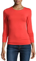 Majestic Soft Touch Long-Sleeve Crewneck Top